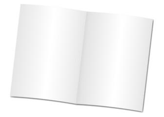Broschüre offen leer