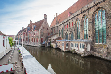 Center Market of Bruges , Belgium