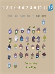 どんぐりカレンダー