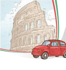 roman background hand draw