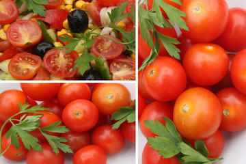 salade aux tomates cerises