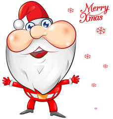 santa claus cartoon on background