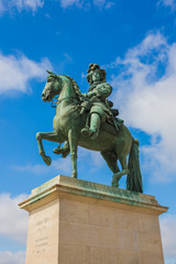 Statue of Louis XIV, Sun King of France in Versailles