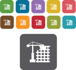 House Building Icons Set. Illustration eps10