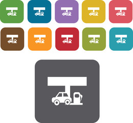 Fuel pump, gas station Icons Set. Illustration eps10