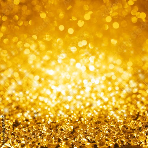 canvas print picture Glimmer gold