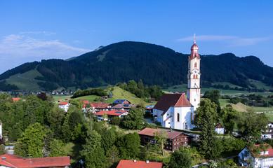 Panorama-Luftaufnahme Pfronten im Allgäu