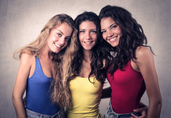 friends posing for a picture