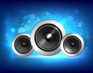 Audio speaker music concept