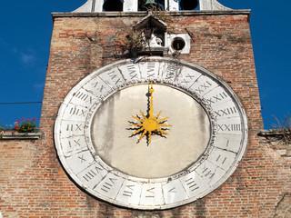 Antico orologio della Chiesa di San Giacomo in Rialto a Venezia