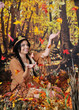 Indian Maiden Catching Falling Leaves