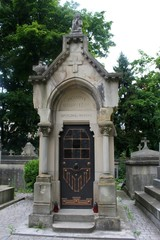 Old statue in Lychakiv cemetery in Lviv