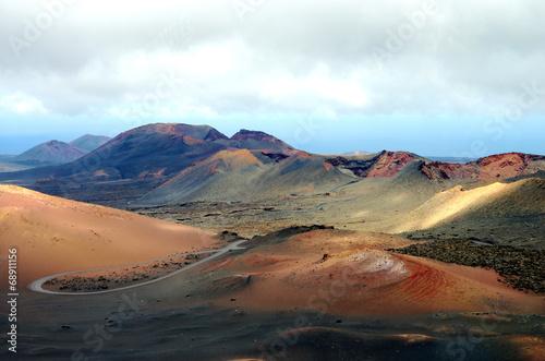 Leinwanddruck Bild volcans timanfaya lanzarote