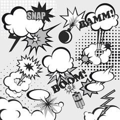 Pop art comic background
