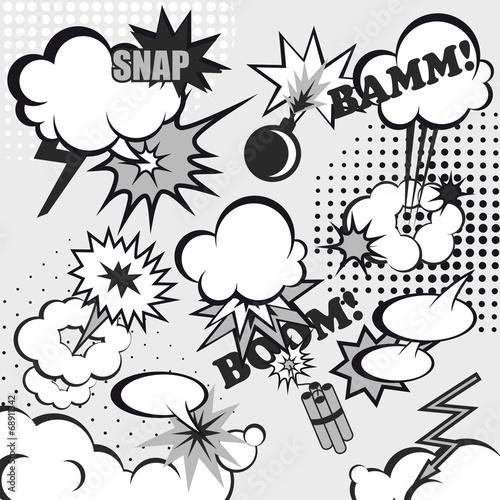 Pop art comic background - 68911342