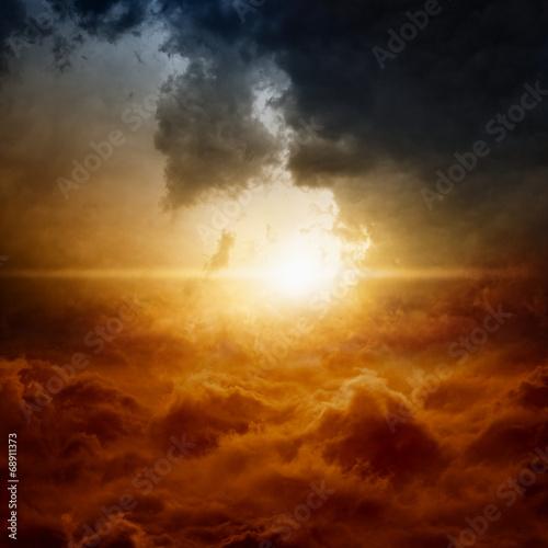 Aluminium Zonsondergang Dramatic sky