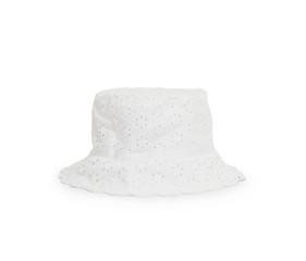 White hat on white background