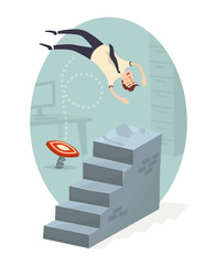 Career ladder. Vector illustration.