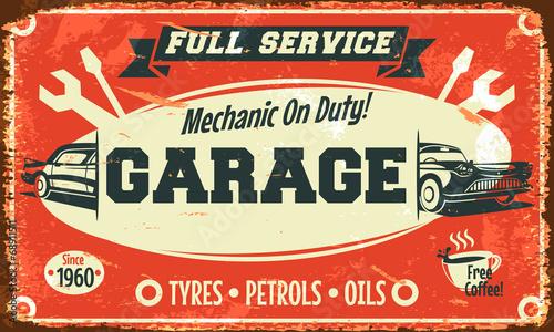 znak-retro-samochodow-ilustracji-wektorowych