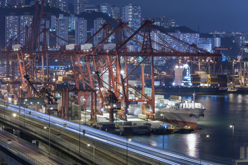 Container Port in Hong Kong