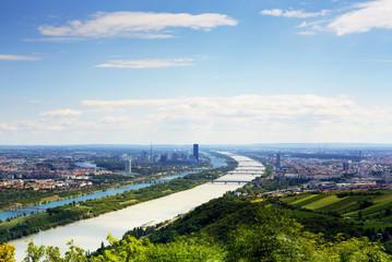 Wien mit Donau