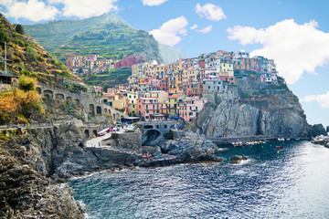 View of Manarola. Manarola is a small town in the province of La