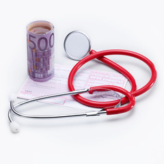 Stethoscope and money - cost increase