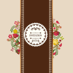Vintage floral frame Flowers Wreath - Illustration