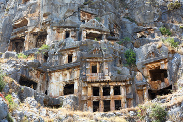 Ancient lycian tombs