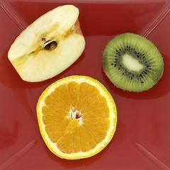 Orange Kiwi Apfel