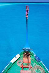 Traditional maldivian boat dhoni