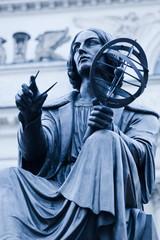 Toned image of statue of Nicolaus Copernicus.