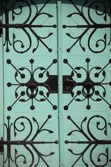 Dekorative alte Tür