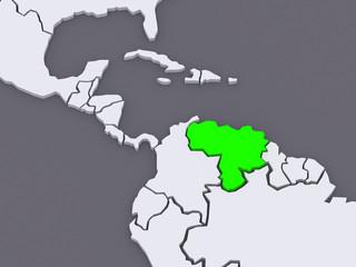 Map of worlds. Venezuela.