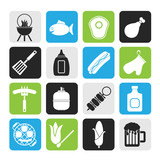 Silhouette Grilling and barbecue icons
