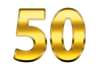 50 dourado