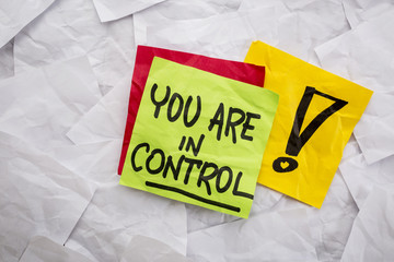 you are in control reminder