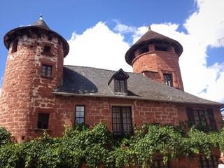 case di Collonges la Rouge, Limousin - Francia