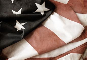 Flag of USA grunge style