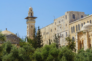 Old mosque in the center of Jerusalem