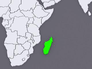 Map of worlds. Madagascar.