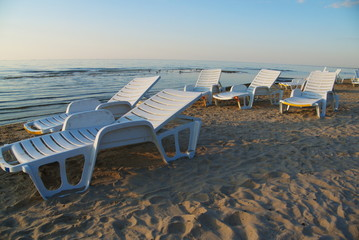 chaise longue on the beach