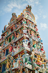 Details of an Indian temple in Singapore