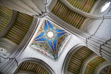 Cathedral Santa Maria la Real de La Almudena in Madrid, Spain