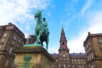 Christiansborg Castle in Copenhagen Denmark