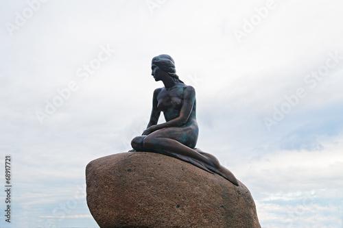 La statue de la Petite Sirène à Copenhague Danemark Poster