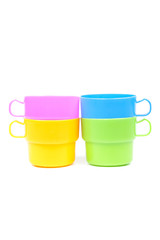 multi color plastic glass