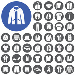 men clothing fashion item icons set. Illustration eps10