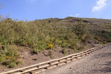 Weg zum Krater des Vesuv