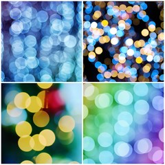 Christmas bokeh set